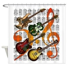 Guitar and Chord 07 Shower Curtain