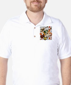 Guitar and Chord 07 Golf Shirt