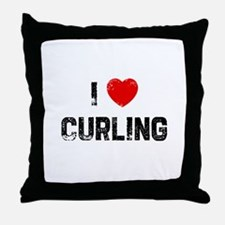 I * Curling Throw Pillow