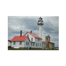 Whitefish Point Lighthouse Rectangle Magnet