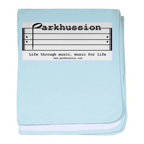 parkhussion logo life and music baby blanket