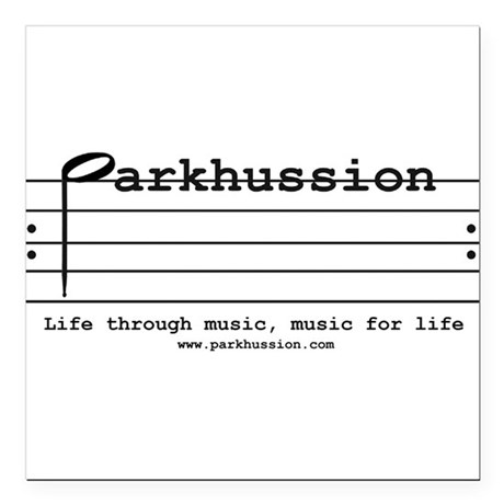 parkhussion logo life and music Square Car Magnet