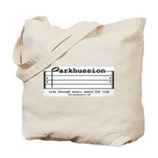 parkhussion logo life and music Tote Bag