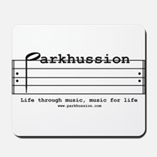 parkhussion logo life and music Mousepad
