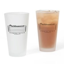 parkhussion logo life and music Drinking Glass