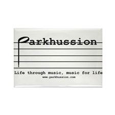 parkhussion logo life and music Rectangle Magnet