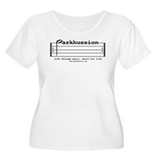 parkhussion logo life and music Plus Size T-Shirt