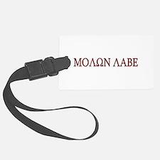 Molon Labe Black border.png Luggage Tag
