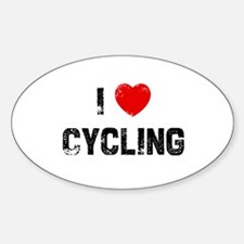 I * Cycling Oval Decal
