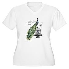 Peacock Birdcage Plus Size T-Shirt