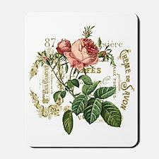 Pink Rose French ephemera Mousepad