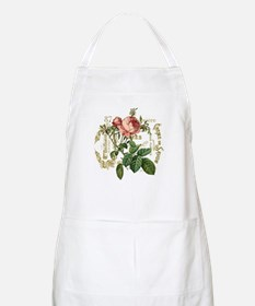 Pink Rose French ephemera Apron