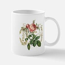 Pink Rose French ephemera Small Mugs