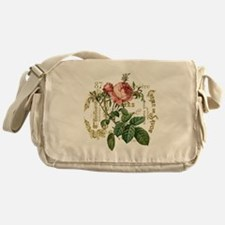 Pink Rose French ephemera Messenger Bag