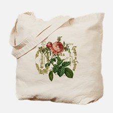 Pink Rose French ephemera Tote Bag