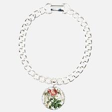 Pink Rose French ephemera Bracelet