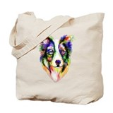 Border collie art Regular Canvas Tote Bag