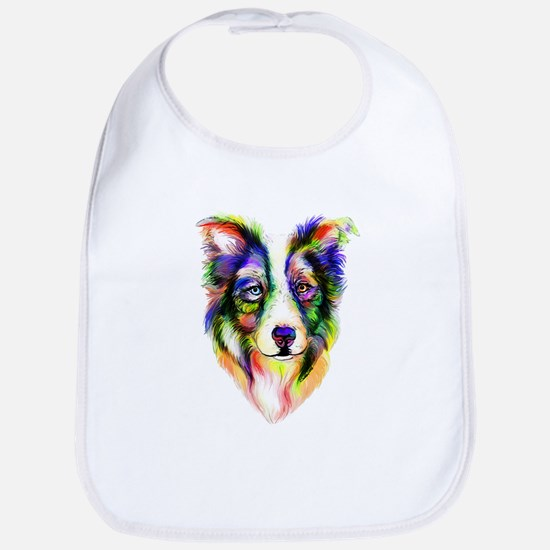 Bright Border Collie Bib