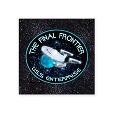 "Star Trek Final Frontier Square Sticker 3"" x 3"""