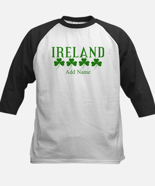 Lucky Irish Shamrocks Baseball Jersey