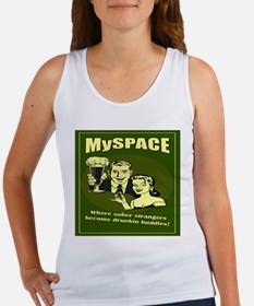 Funny MySpace Women's Tank Top