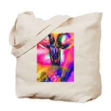 Psychedelic Baphomet Tote Bag
