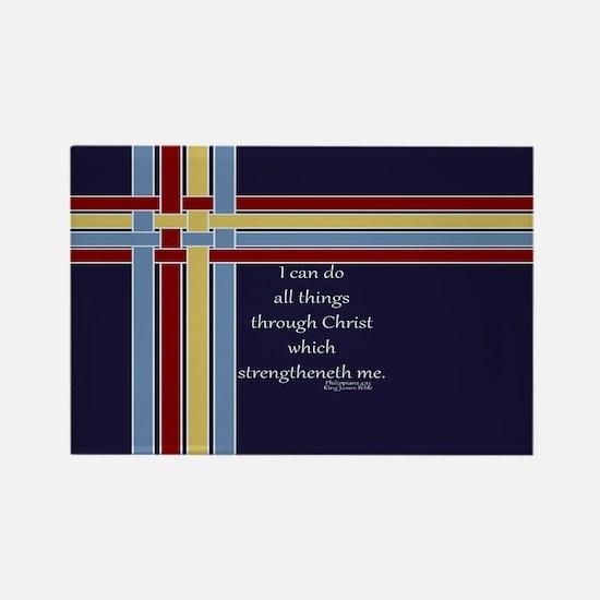 Bible Verse Philippians 4 13 Rectangle Magnet