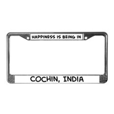 Happiness is Cochin License Plate Frame