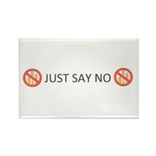 Gluten Free Just Say No Rectangle Magnet (10 pack)