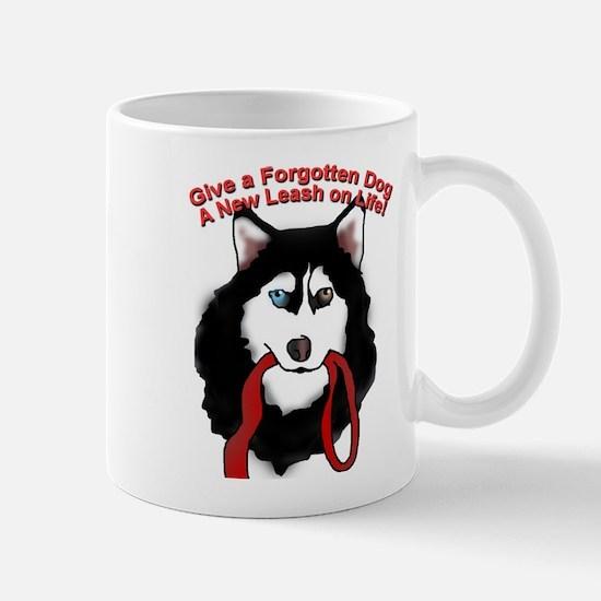 Cute Siberian husky rescue Mug