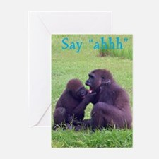 gorilla doctor Greeting Cards (Pk of 10)