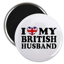 I Love My British Husband Magnet