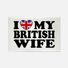 I Love My British Wife Rectangle Magnet