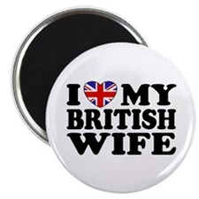 I Love My British Wife Magnet