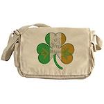 Irish Masons Clover Messenger Bag
