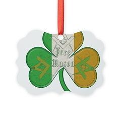 Irish Masons Clover Ornament
