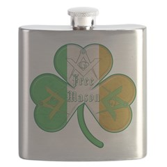 Irish Masons Clover Flask