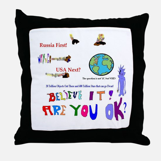 Meteor Asteroid Earth Throw Pillow