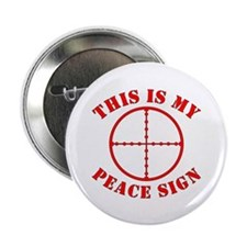"""This Is My Peace Sign 2.25"""" Button (10 pack)"""