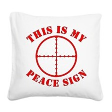 This Is My Peace Sign Square Canvas Pillow