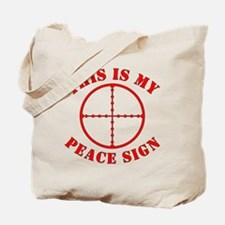 This Is My Peace Sign Tote Bag