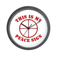 This Is My Peace Sign Wall Clock