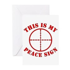 This Is My Peace Sign Greeting Cards (Pk of 20)