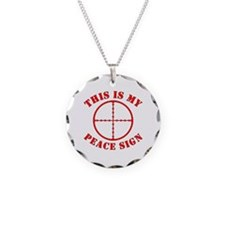 This Is My Peace Sign Necklace Circle Charm
