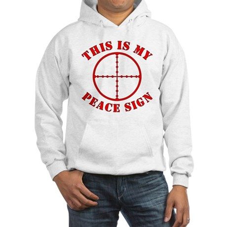 This Is My Peace Sign Hooded Sweatshirt
