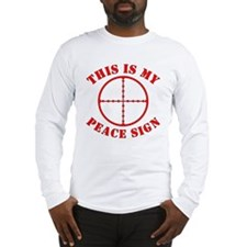 This Is My Peace Sign Long Sleeve T-Shirt