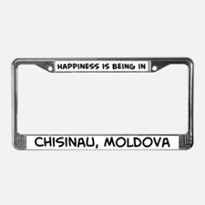 Happiness is Chisinau License Plate Frame