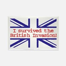 I Survived the British Invasion Rectangle Magnet