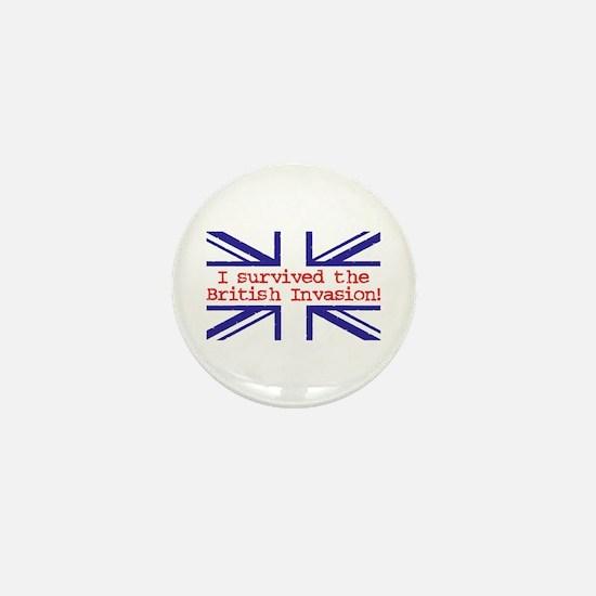 I Survived the British Invasion Mini Button