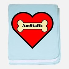 AmStaffs Heart baby blanket